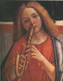 An Angel Playing a Crumhorn