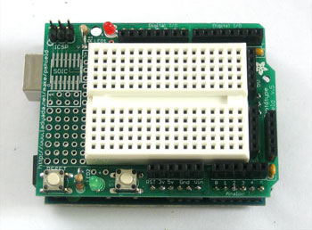 Proto Shield for Arduino with MiniBreadboard