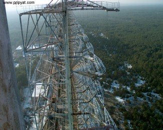 View on the Top of the Russian Woodpecker at Nikolayev in the Ukraine