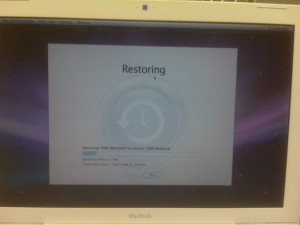 Completely Restoring my MacBook from an OS-X 10.5 TimeMachine Backup