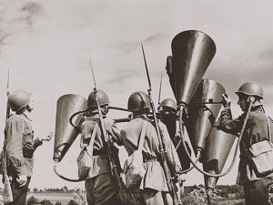 Can you Hear Me Now?  WWII Russian Antiaircraft audio Team at work.