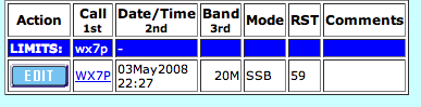 K9ZW worked WX7P QSO Log Entry