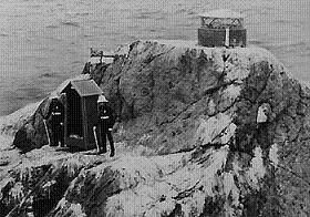 Rockall with British Marine Guards 1974
