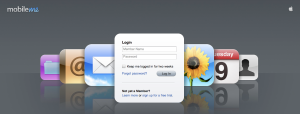 MobileMe Homepage