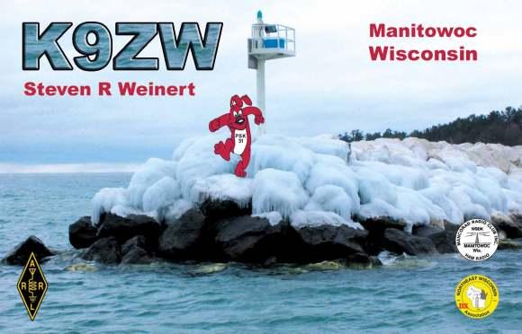K9ZW Winter QSL Card