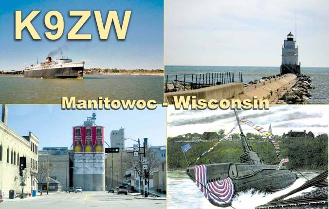 K9ZW Four Picture QSL Card
