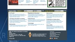 ARRL New Website Browser Image - Two Page Downs