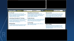 ARRL New Website Browser Image - Two Page Downs - Reverse Masked