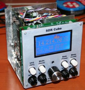 SDR-Cube Prototype with Cover Off