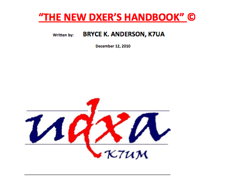 The New DXer's Handbook Cover by Bryce K7UA