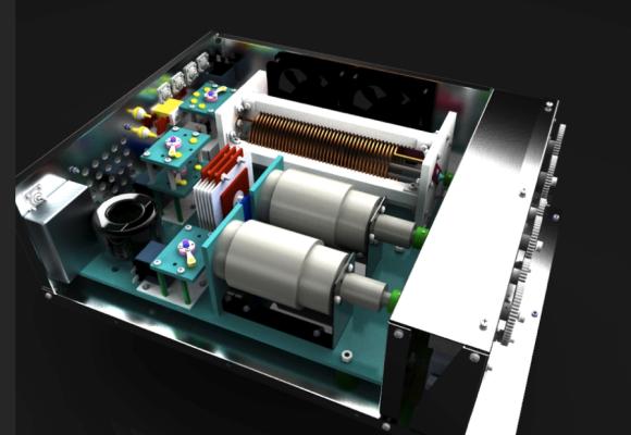 Alpha 4040 QRO Antenna Tuner Rendition (Interior)