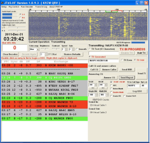 K9ZW in a JT65 160m QSO with N4UPX