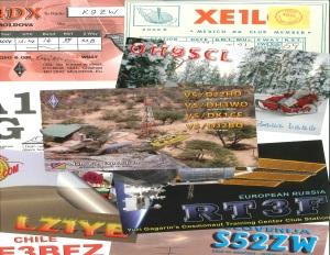 A few of yesterdays inbound DX QSL Cards