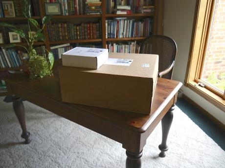 Boxes arrive