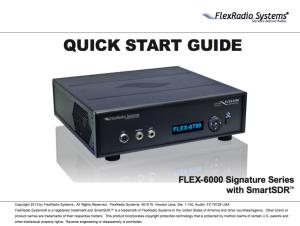 Flex-6000 Quick Start Guide