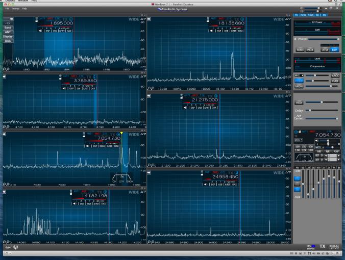 A Seven Band Look via SmartSDR V1.1